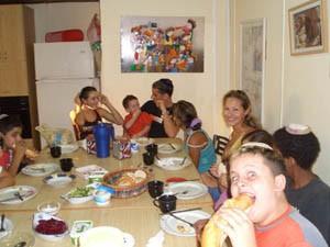 Gemeinsames Essen in der Gruppe